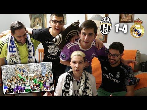 REACCIONES DE UN HINCHA Juventus vs Real Madrid 1-4 FINAL DE LA CHAMPIONS 2017