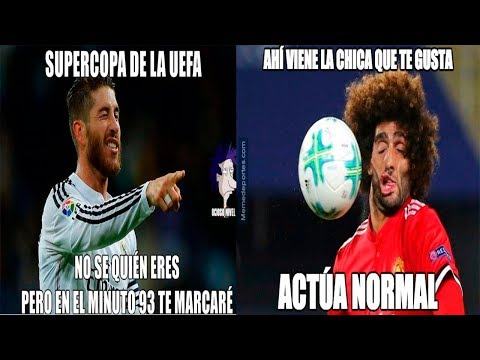 MEMES SUPERCOPA DE EUROPA | Real Madrid VS. Manchester United |