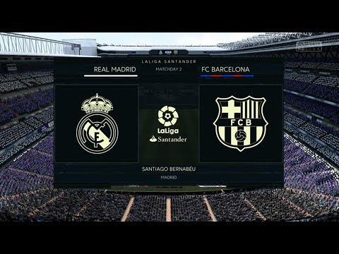 FIFA 18 REAL MADRID VS FC BARCELONA XBOX ONE GAMEPLAY