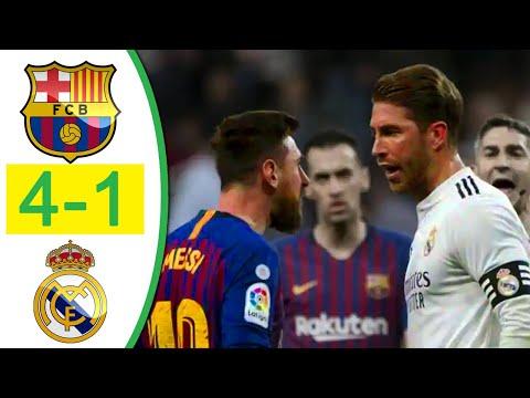 Barcelona vs Real Madrid 4-1 Extended Highlights & Goals (Last Match) HD