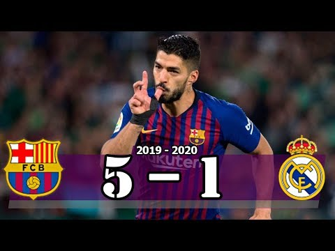 Suarez Hattrick – Barcelona vs Real Madrid (5-1) | Goal & Highlights Resumen & Goles (Last Matches)