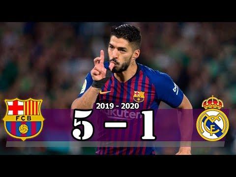Suarez Hattrick – Barcelona vs Real Madrid (5-1) | Goal & Highlights Resumen & Goles (Last Matches)