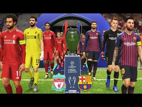 PES 2019 | Barcelona vs Liverpool | Full Match & Amazing Goals | UEFA Champions League Final UCL