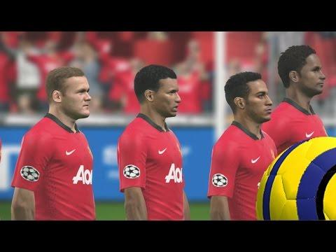 PES 2014 Gameplay – Ser Leyenda – M.United Vs Real Madrid – Champions league un partido decisivo