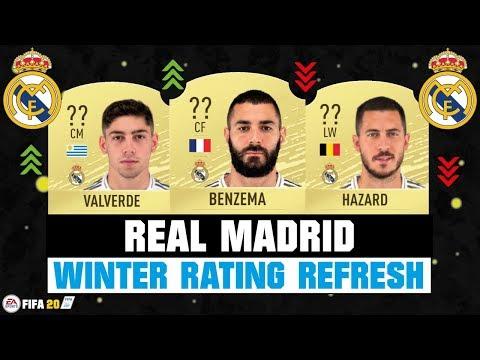 FIFA 20 | REAL MADRID WINTER RATING REFRESH! 🔥😳| FT. BENZEMA, HAZARD, VALVERDE… etc