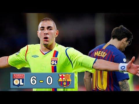 LYON 6 – 0 BARCELONA -Champions League – Benzema destruyendo al Barça – Resumen y goles – Parodia