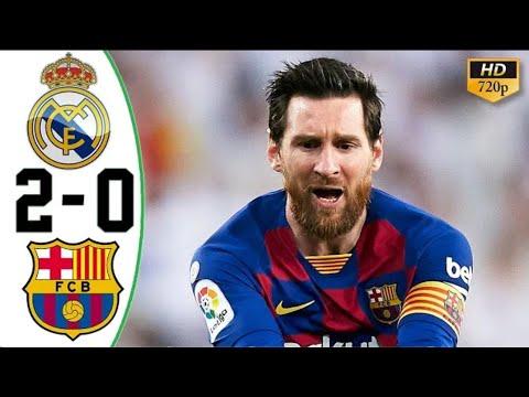 Real Madrid vs Barcelona 2-0 All Goals & Highlights – Resumen & Goles HD 2020