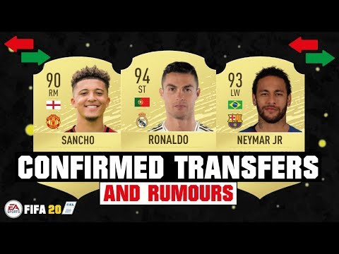 FIFA 20 | NEW CONFIRMED TRANSFERS & RUMOURS 😱🔥| FT. RONALDO, NEYMAR, SANCHO… etc