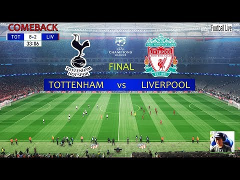 PES 2019 | Tottenham vs Liverpool | Full Match & Amazing Goals | UEFA Champions League Final UCL