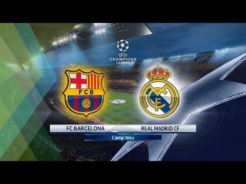 Pes 2018| FC Barcelona Vs Real Madrid| UEFA Champions League| GamePlay PC