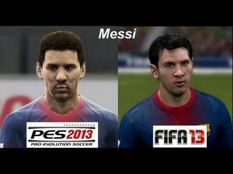 PES 2013 vs FIFA 13 FACE Comparison Barcelona FC