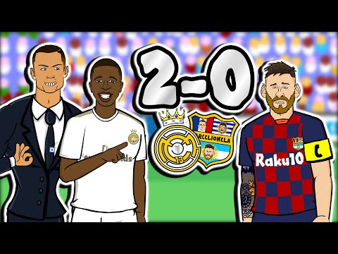El Clasico – Real Madrid win 2-0! (Feat Vinicius, Mariano & Ronaldo Barcelona Goals Highlights)