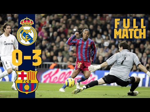 FULL MATCH: Real Madrid 0 – 3 Barça (2005) RELIVE RONALDINHO'S GREATEST GAME AT FC BARCELONA!