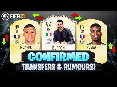 FIFA 21 | NEW CONFIRMED TRANSFERS & RUMOURS!! 😱🔥 | FT. MBAPPE, BUFFON, POGBA… etc