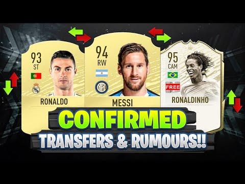 FIFA 20 | NEW CONFIRMED TRANSFERS & RUMOURS!! 😱🔥 | FT. RONALDINHO, MESSI, RONALDO… etc