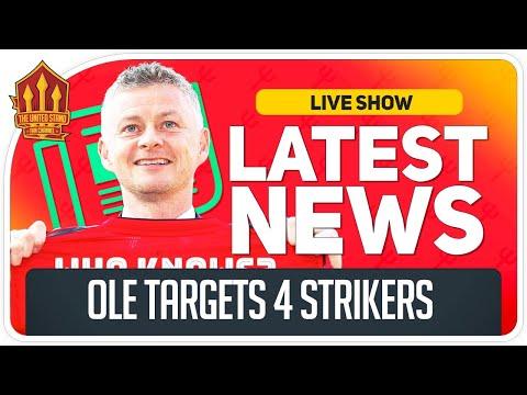 Solskjaer's 4-Man Striker Transfer List! Man Utd News Now