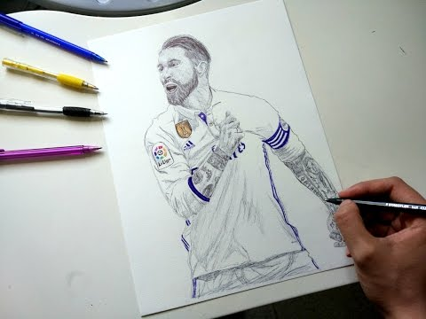 Sergio Ramos Pen Drawing – Real Madrid