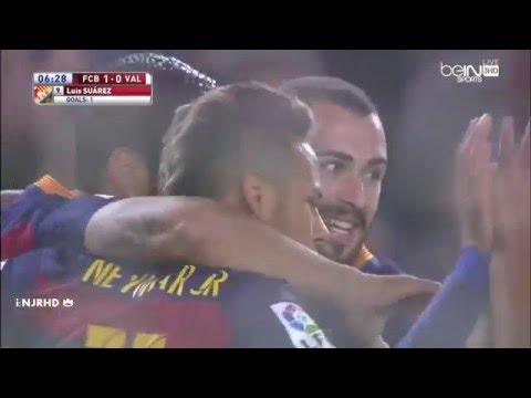 Barcelona vs Valencia 7-0 All Goals 3-2-2016 HD