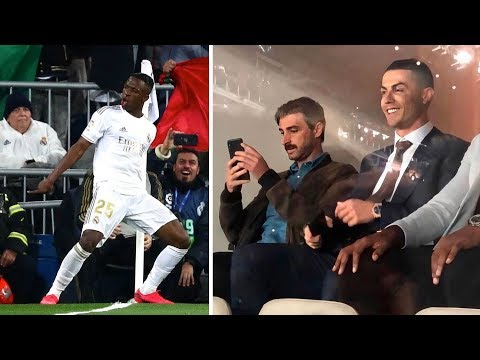 Cristiano Ronaldo attend match Real Madrid vs Barcelona 2-0