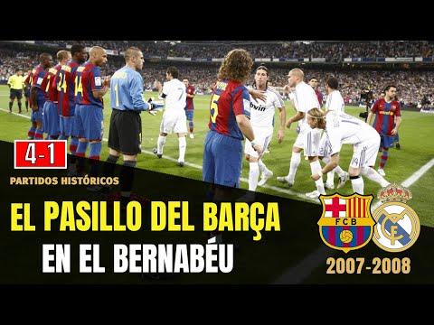 El CLÁSICO del PASILLO 👏 del Barça al Real Madrid (2008)🏆 Real Madrid 4 Barcelona 1