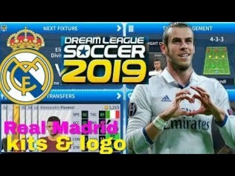 How To Create Real Madrid Kits & Logo | Dream League Soccer 2019