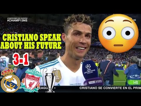CRISTIANO RONALDO [POST MATCH INTERVIEW] REAL MADRID VS LIVERPOOL 3-1 (26/05/2018)