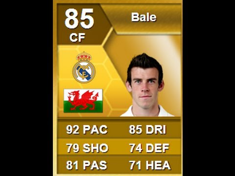 FIFA 13 Real Madrid Bale 85 As Striker Player Review & In Game Stats Ultimate Team