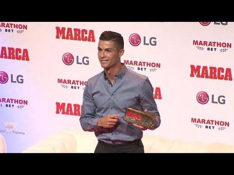 Cristiano Ronaldo agradece el premio Marca Leyenda