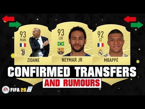 FIFA 20 | NEW CONFIRMED TRANSFERS & RUMOURS 😱🔥| FT. NEYMAR, MBAPPE, ZIDANE… etc