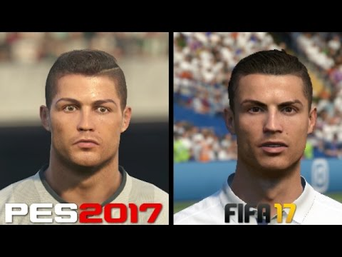 FIFA 17 vs PES 2017 Faces Comparison – Real Madrid: Ronaldo, Benzema, Bale