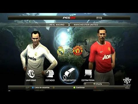 PES 2012 Gameplay Online – Real Madrid vs Manchester United (1vs3)