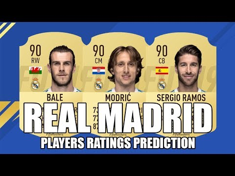 FIFA 19 PLAYERS RATINGS PREDICTION –  REAL MADRID