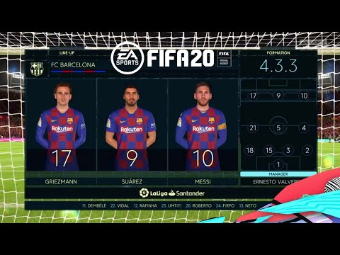 FIFA 2020 Real Madrid VS Barcelona PS4 Gameplay El Clasico