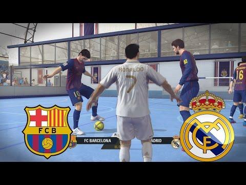Fifa Street – El Clasico Barcelona vs Real Madrid en Un partido de Futbol Sala