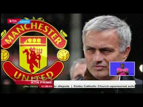 Former Chelsea and Real Madrid coach Jose Mourinho signs contract as new Manchester United coach