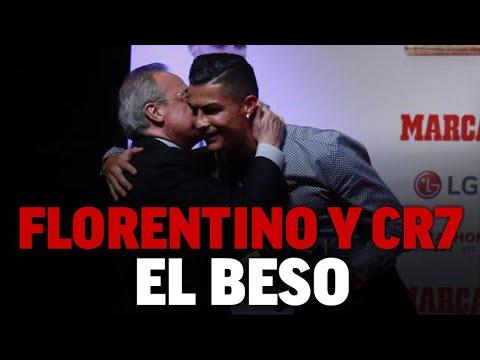 El beso de Florentino a Cristiano Ronaldo en su reencuentro I MARCA