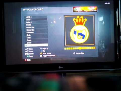 Perfect Real Madrid Crest Playercard TUTORIAL Call Of Duty Black Ops