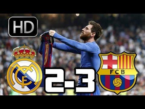 Real Madrid 2-3 Barcelona| RESUMEN Y GOLES HD| LIGA| 23-04-17