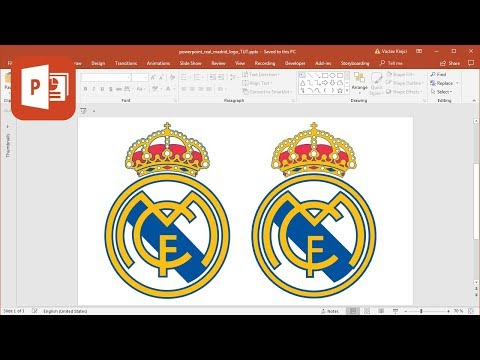 How to create Real Madrid logo in Microsoft PowerPoint (Tutorial)