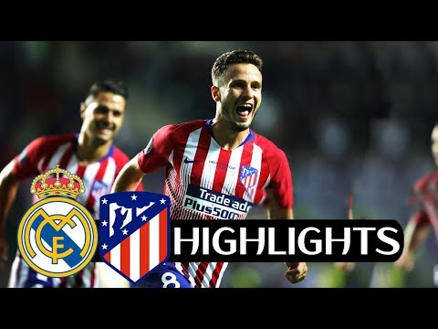 Real Madrid vs Atletico Madrid 2-4 UEFA Super Cup 2018 – All Goals & Highlights HD (FROM STANDS)
