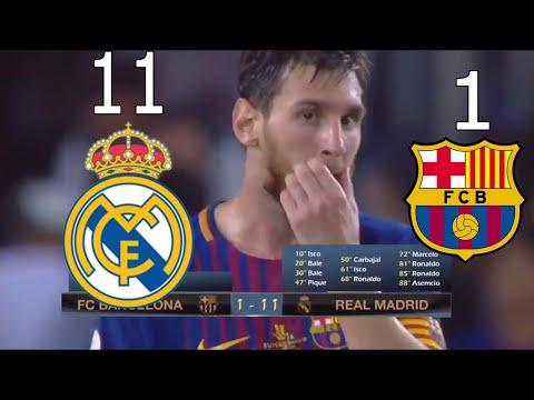 AMAZING!!! REAL MADRID 11-1 BARCELONA (EL CLASICO 2017)