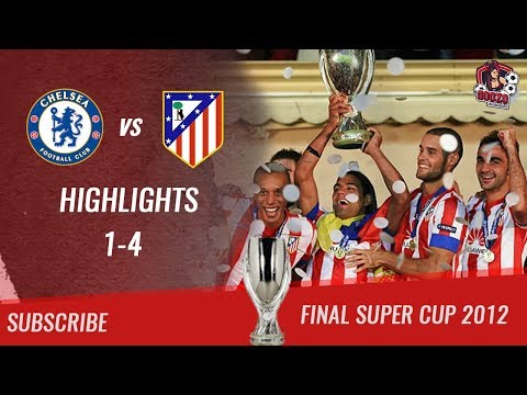 🏆 2012 – Final Supercup 🏆 Chelsea FC vs Atlético de Madrid 1-4 All Highlights & Goals| HD