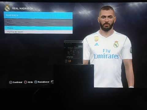 PS3 – PES 2018 (BLUS) 5 KITS REAL MADRID – CON LAS MEDIAS Y LINEAS BIEN CENTRADO.