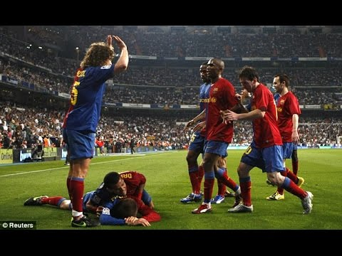 Real Madrid vs FC Barcelona 2-6 Highlights La Liga 2008-09 HD English Commentary