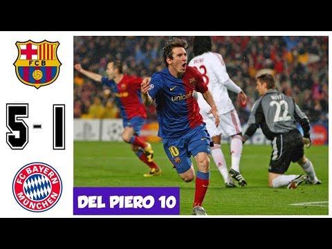 Barcelona vs Bayern Munchen 5-1, Quarter Final UCL 2009 – All Goals and hIghlights