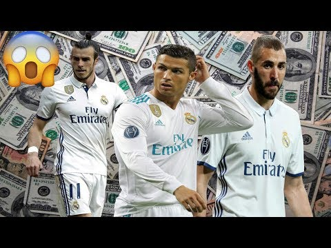 Real Madrid Player Salaries per week 2017-2018 || Crazy World ||
