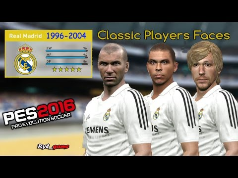 Real Madrid  Classic Players Faces / PES2016