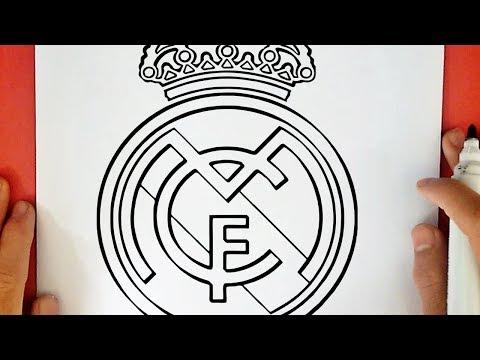 COMO DIBUJAR EL ESCUDO DEL REAL MADRID