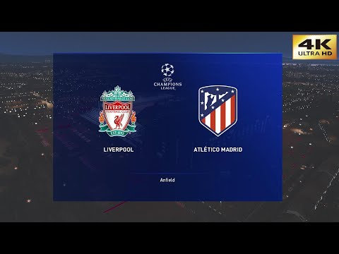 PES 2020 (PC) Liverpool vs Atletico Madrid | UEFA CHAMPIONS LEAGUE ROUND of 16 PREDICTION | 4K