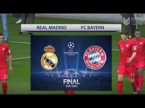 FIFA 16 | CHAMPIONS LEAGUE FINAL | REAL MADRID V BAYERN MUNCHEN (with Graphics)